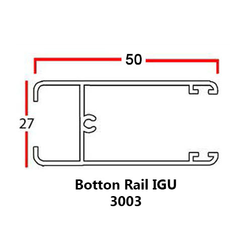 BOTTOM RAIL IGU
