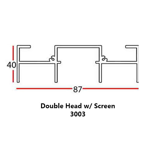 DOUBLE HEAD WITH SCREEN