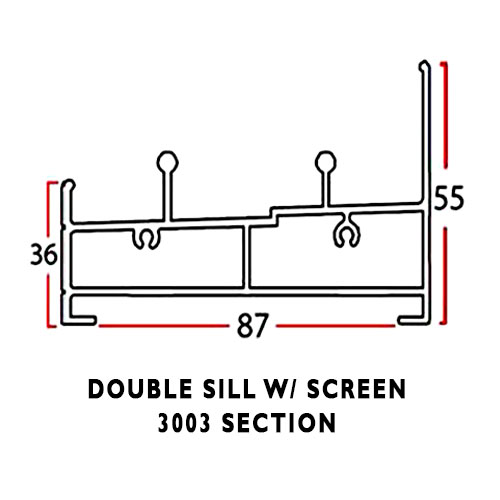 DOUBLE SILL WITH SCREEN
