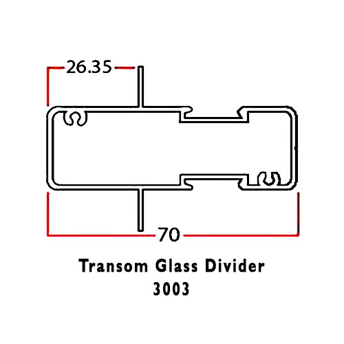 TRANSOM GLASS DIVIDER